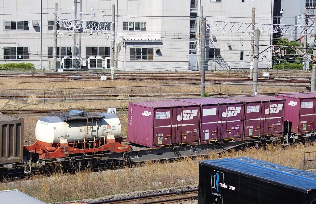 3/20東京貨物ターミナル発4095レのコキとコンテナ_f0203926_21582411.jpg