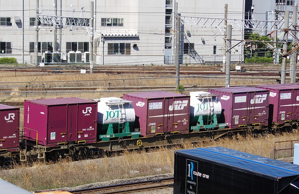 3/20東京貨物ターミナル発4095レのコキとコンテナ_f0203926_21594565.jpg