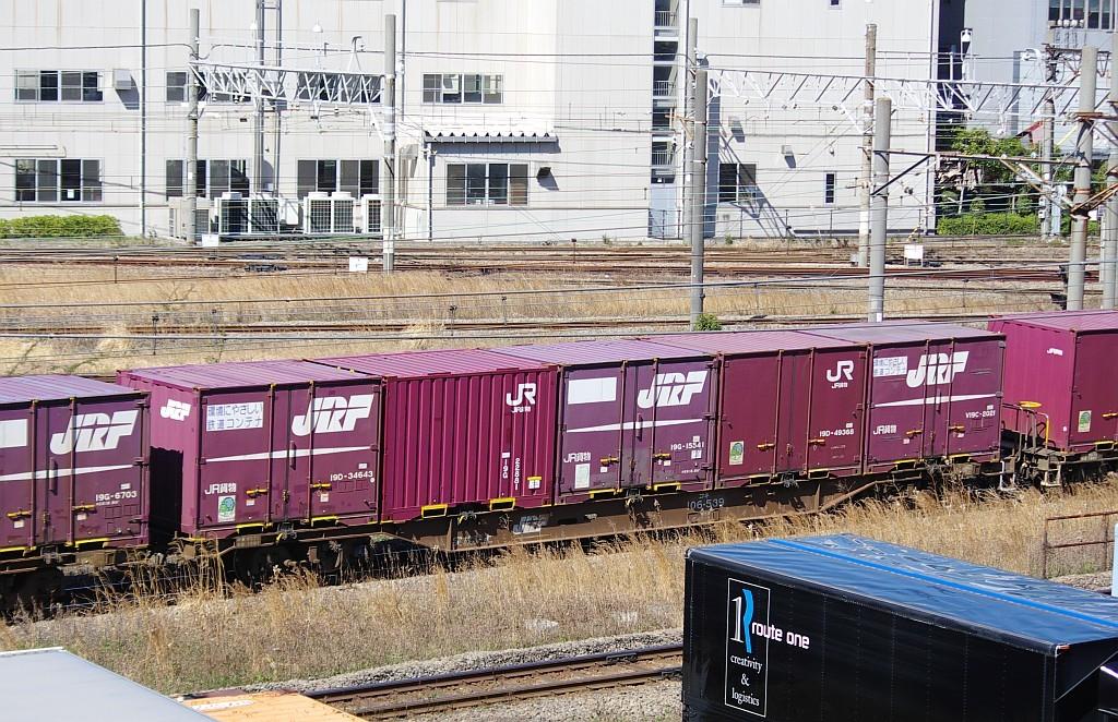 3/20東京貨物ターミナル発4095レのコキとコンテナ_f0203926_22000449.jpg