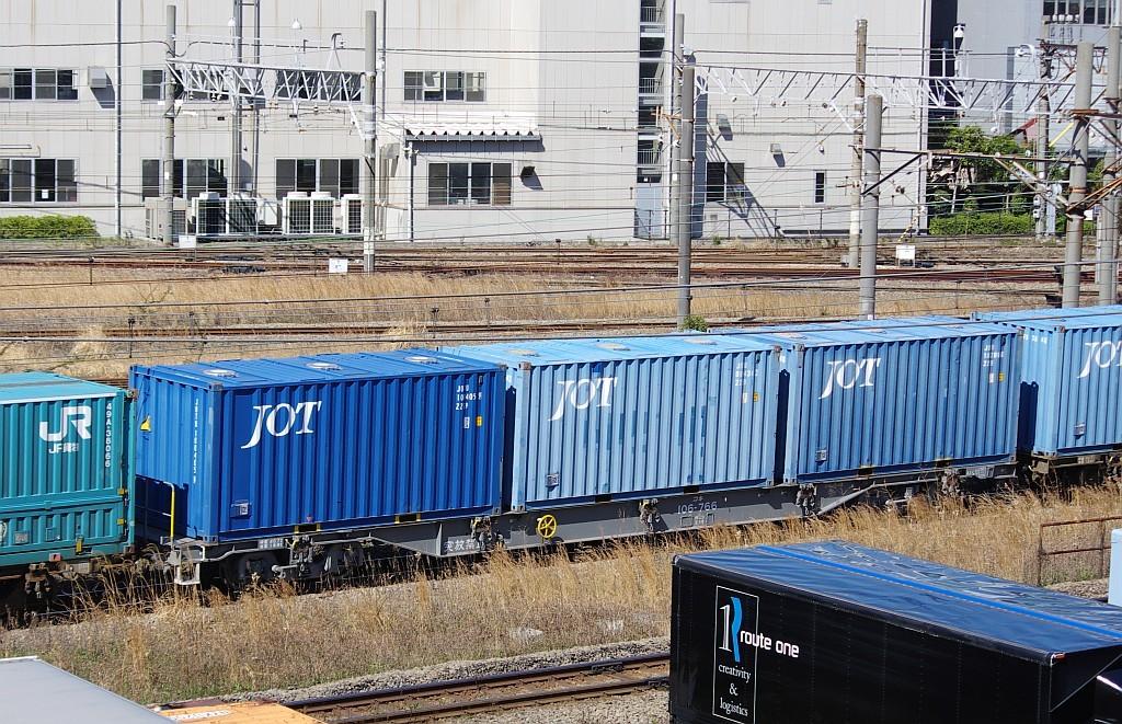 3/20東京貨物ターミナル発4095レのコキとコンテナ_f0203926_22011737.jpg