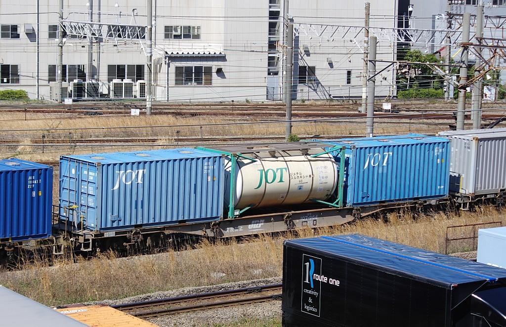 3/20東京貨物ターミナル発4095レのコキとコンテナ_f0203926_22024024.jpg