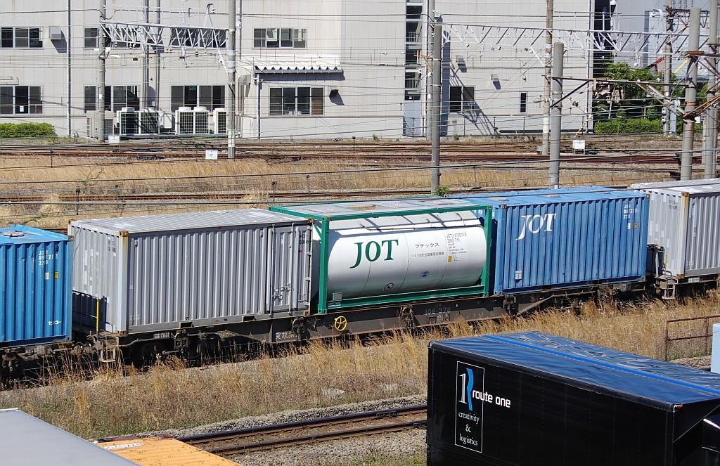 3/20東京貨物ターミナル発4095レのコキとコンテナ_f0203926_22030046.jpg