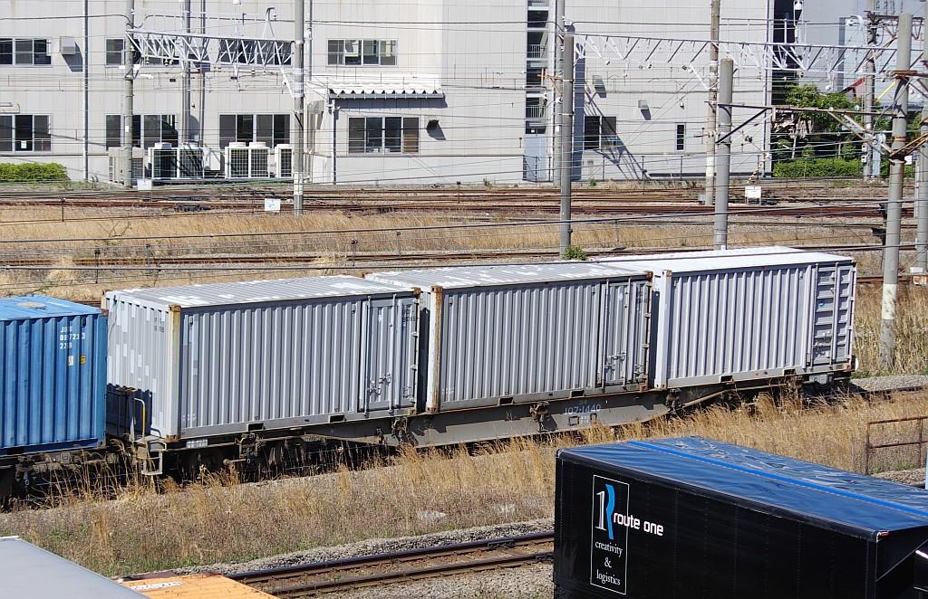 3/20東京貨物ターミナル発4095レのコキとコンテナ_f0203926_22032650.jpg