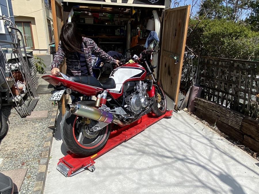 バイクドーリーでママもバイクもくるくるぱー_c0261447_22502621.jpg