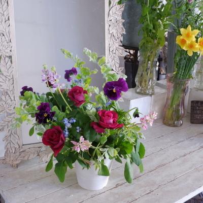 オークリーフ花の教室(岡原さんと山田さんの作品)_f0049672_19171701.jpg