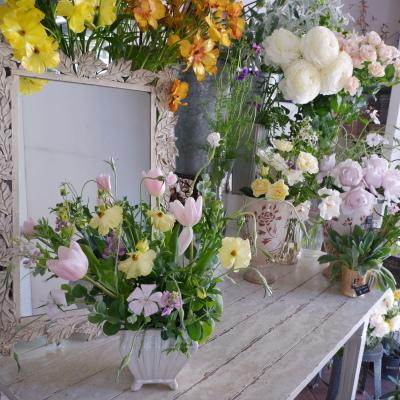 オークリーフ花の教室(岡原さんと山田さんの作品)_f0049672_19172576.jpg