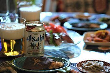ジャンボ椎茸と刺身の副産物で呑む!_d0367191_10224437.jpg