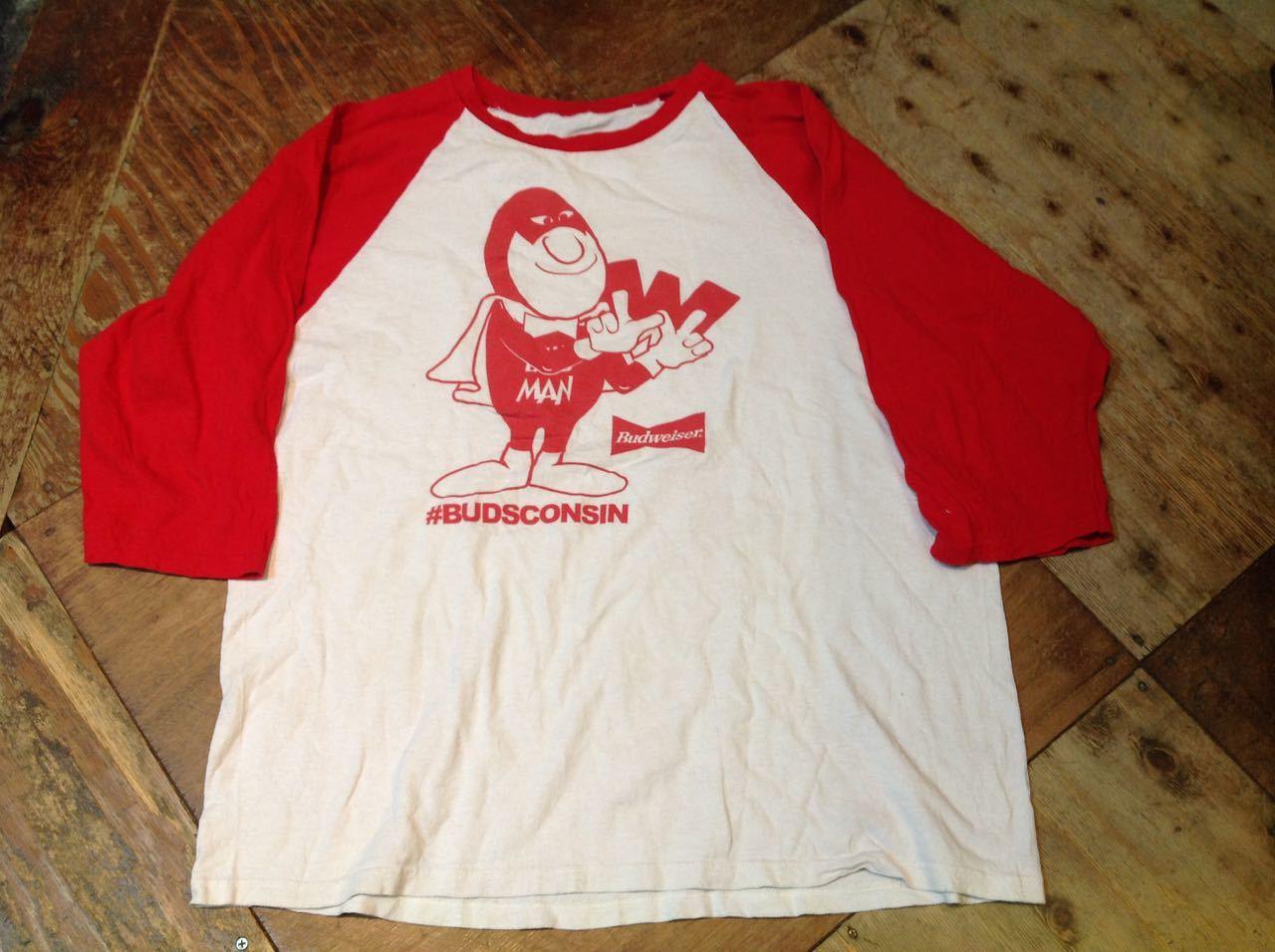 3月28日(土)入荷!80s レア BUDWEISER バドワイザー BUDMAN ロングスリーブ Tシャツ!_c0144020_14302442.jpg