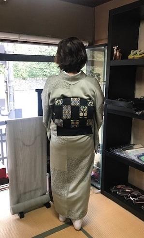 ご来店のお客様・岡山工芸の素敵な桜の羽織。_f0181251_18440553.jpg
