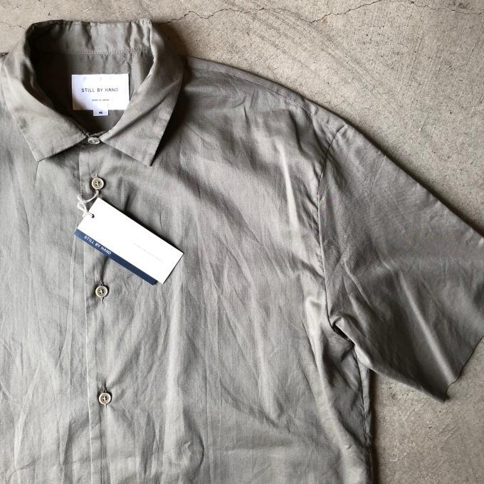 STILL BY HAND スティルバイハンド 袋縫いの半袖シャツ_d0334060_16545106.jpg