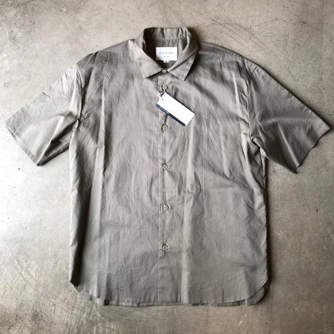 STILL BY HAND スティルバイハンド 袋縫いの半袖シャツ_d0334060_16545182.jpg