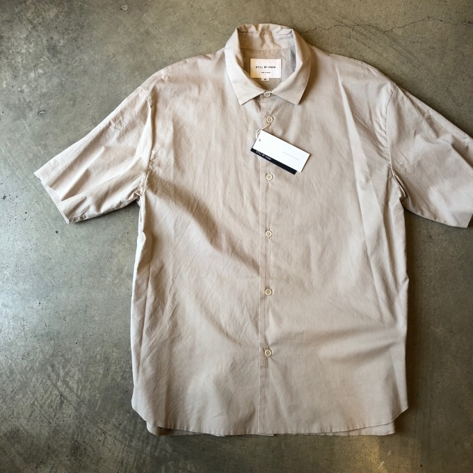 STILL BY HAND スティルバイハンド 袋縫いの半袖シャツ_d0334060_16551023.jpg