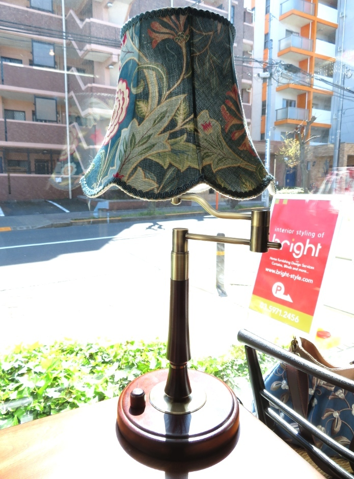 モリス ランプシェードオーダー製作 『ウィルへルミナ』 ウィリアムモリス正規販売店のブライト_c0157866_20314989.jpg