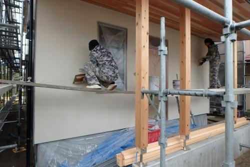 新潟市江南区 外壁 ガルバリウム鋼板 ジョリパット_c0091593_15211450.jpg