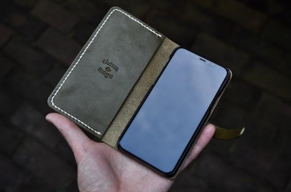 iphone 11 pro leather case book type_b0172633_19263076.jpg