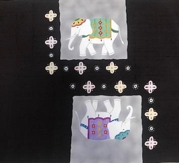 商品紹介・西原・象の帯+上田紬コーディネイト。_f0181251_19052474.jpg