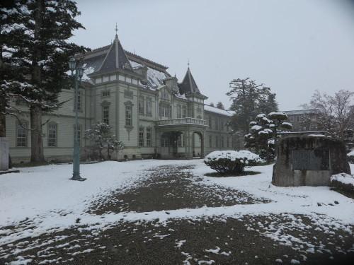 重文本館の昼下がり、「彼岸過ぎまで七雪」2020.3.29_c0075701_14165835.jpg