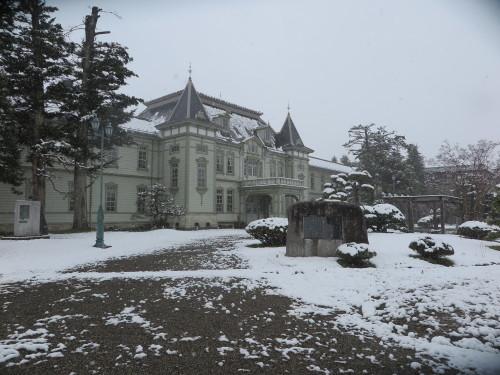 重文本館の昼下がり、「彼岸過ぎまで七雪」2020.3.29_c0075701_14170584.jpg