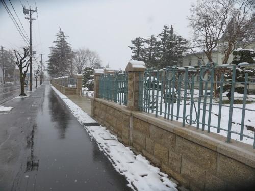 重文本館の昼下がり、「彼岸過ぎまで七雪」2020.3.29_c0075701_14175929.jpg