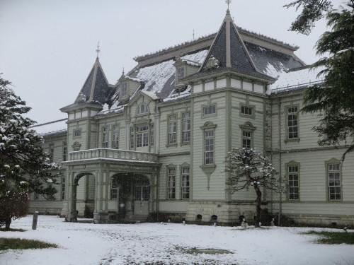 重文本館の昼下がり、「彼岸過ぎまで七雪」2020.3.29_c0075701_14185794.jpg
