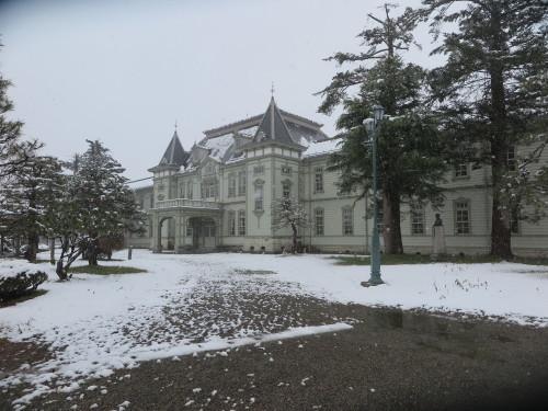重文本館の昼下がり、「彼岸過ぎまで七雪」2020.3.29_c0075701_14191079.jpg