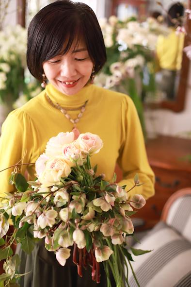 春のパーソナルブーケレッスン2020〜さわ子先生&番外編_b0208604_15100774.jpg
