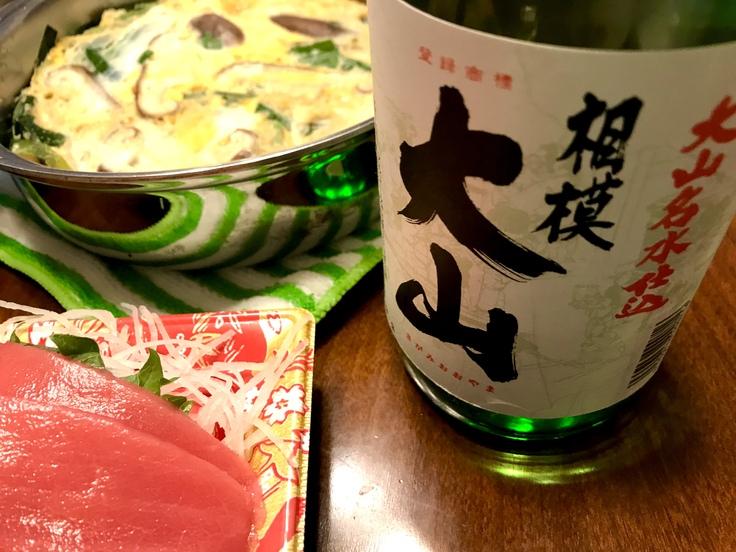 お刺身ランチ と 相模大山(吉川醸造)_c0212604_13371929.jpg