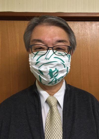 """社長さんは""""かっぱマスク""""がお気に入り_e0234016_19052093.jpg"""