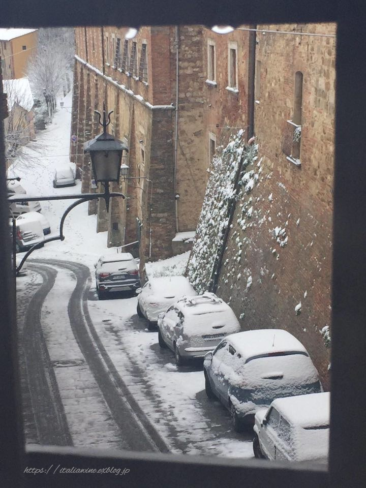 モンテプルチャーノの雪景色_d0219019_16494307.jpg