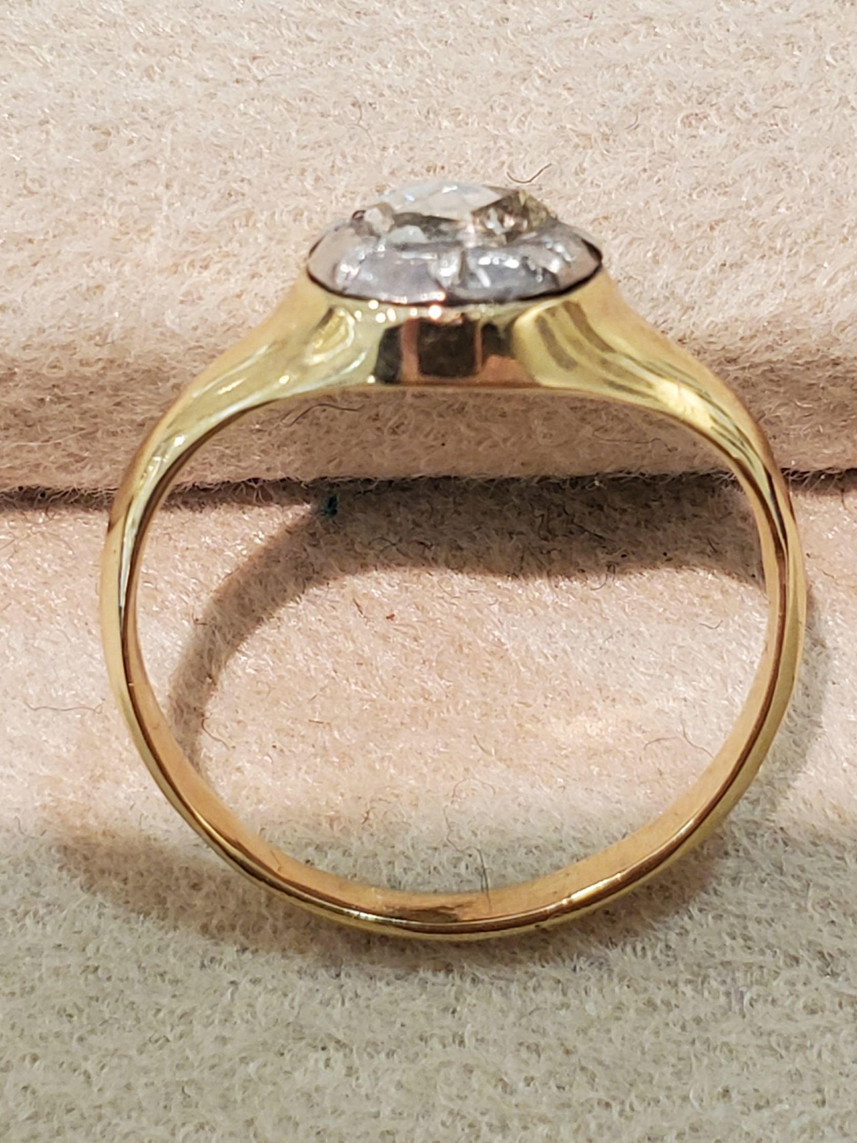 Gold.Sv.ローズカットダイヤモンドリング_b0284422_17461725.jpg