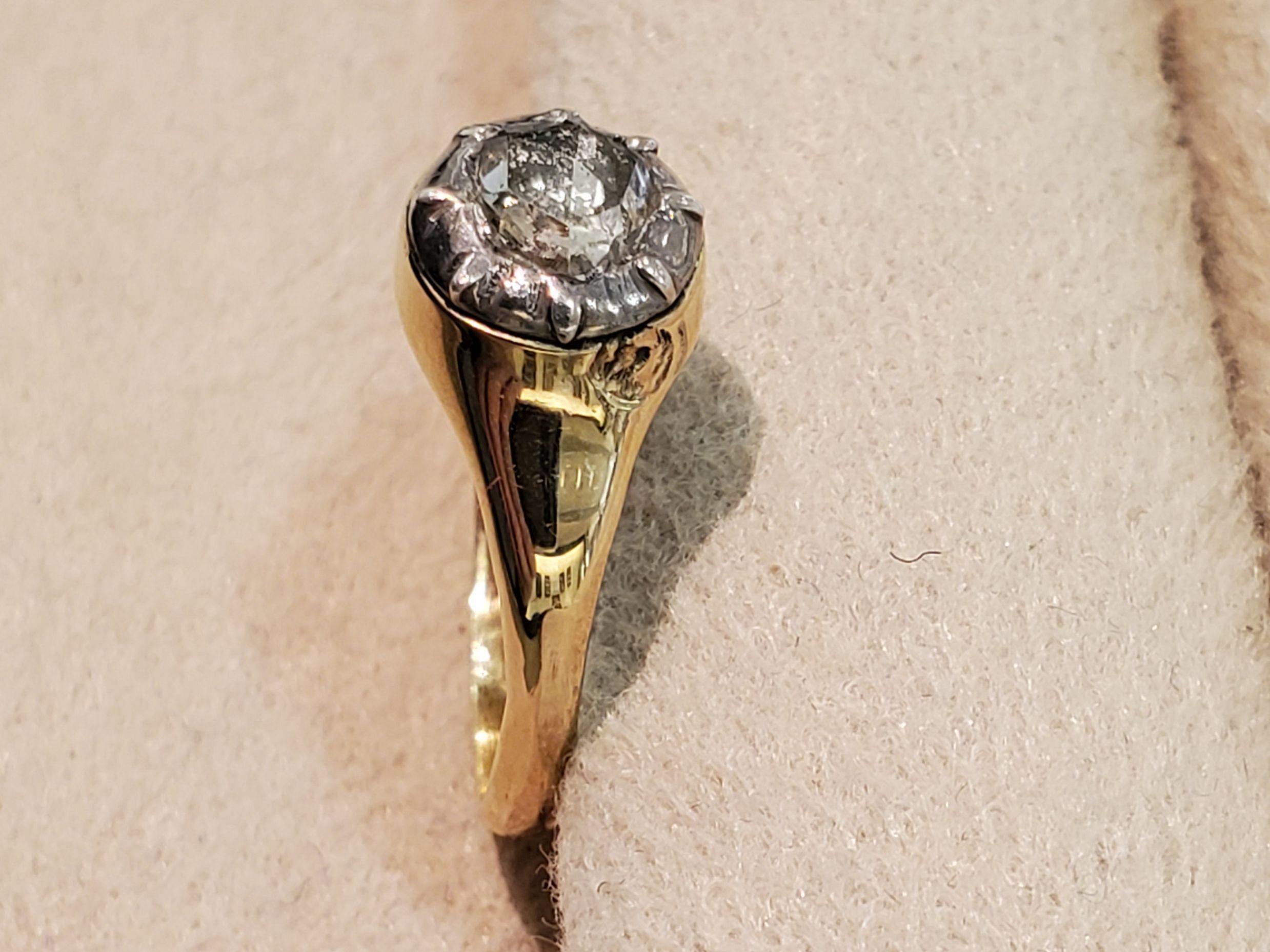 Gold.Sv.ローズカットダイヤモンドリング_b0284422_17473509.jpg