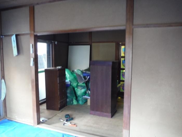 床上浸水 ~ 和室6畳間から開始です。_d0165368_07495933.jpg