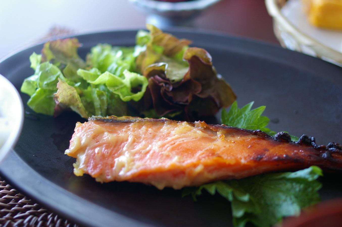 自家製 鮭の西京焼き_d0327373_09415252.jpg