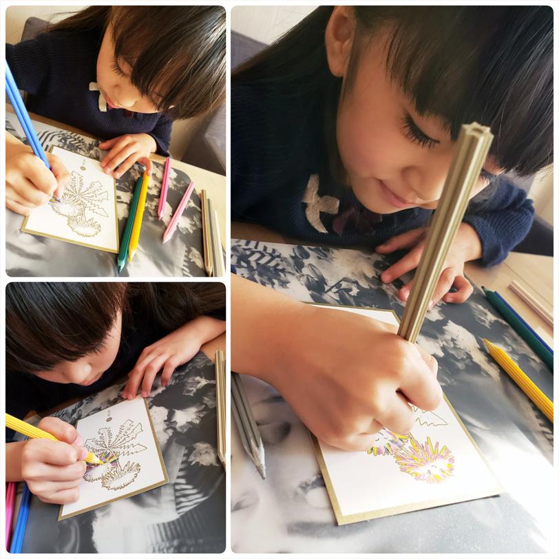優しい花色鉛筆と雪色鉛筆・・・ガラスのチェスとウズラの卵ちゃん。_d0224894_19072595.jpg