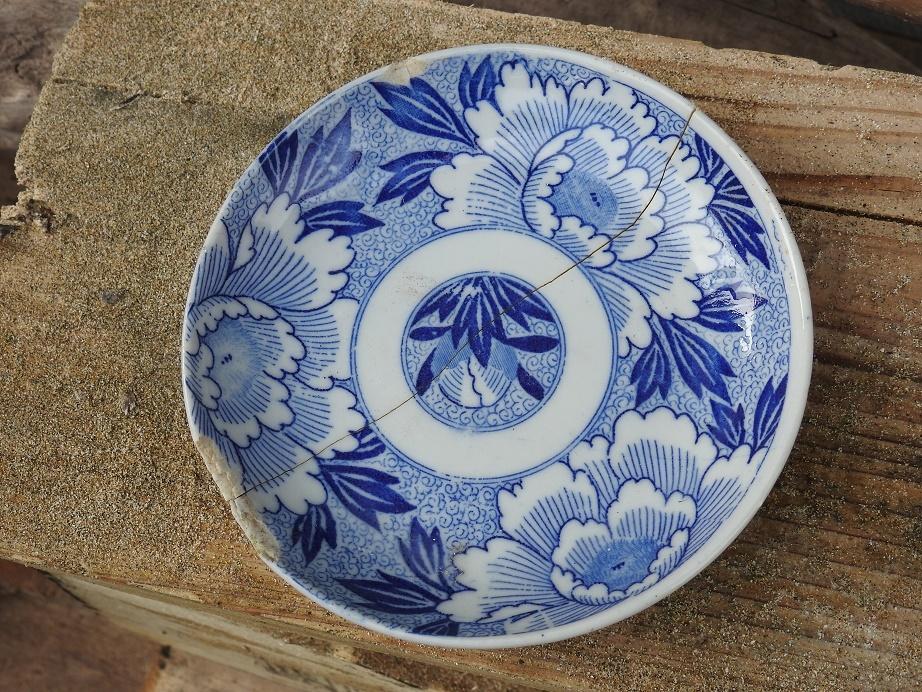 統制陶器の皿(岐873)_c0353716_21580767.jpg