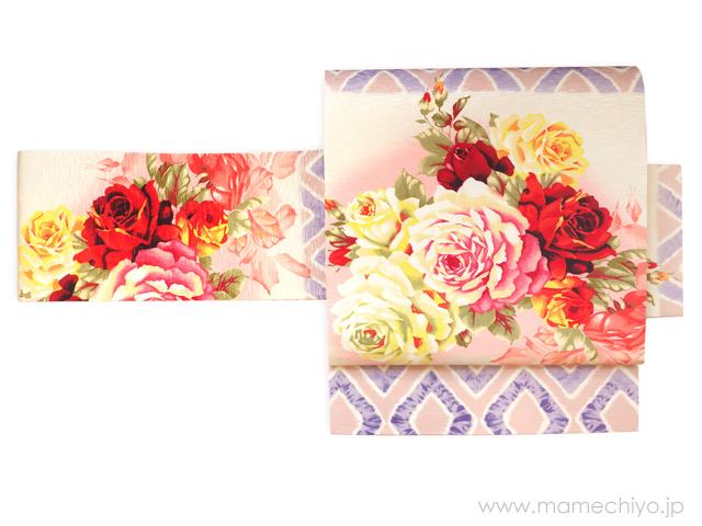 正絹名古屋帯「花丸紋」・「薔薇とダイヤ」再入荷♪_e0167832_17584803.jpg