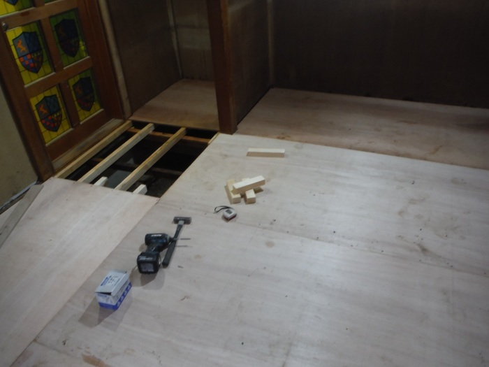 床上浸水 ~ 和室4.5畳間の工事。_d0165368_01492035.jpg
