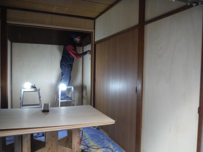 床上浸水 ~ 和室4.5畳間の工事。_d0165368_01493169.jpg
