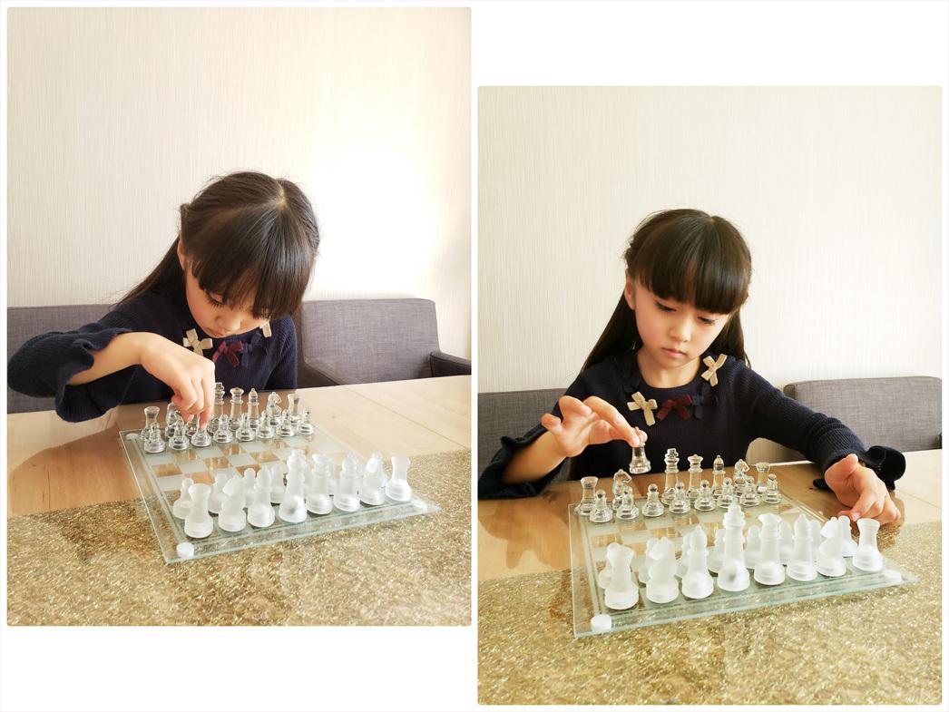 優しい花色鉛筆と雪色鉛筆・・・ガラスのチェスとウズラの卵ちゃん。_d0224894_01351475.jpg