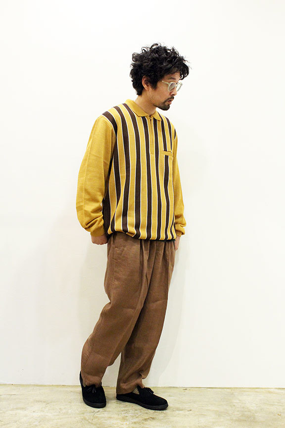 "WHIMSY (ウィムジー) "" STRIPED KNIT POLO \""_b0122806_12300958.jpg"