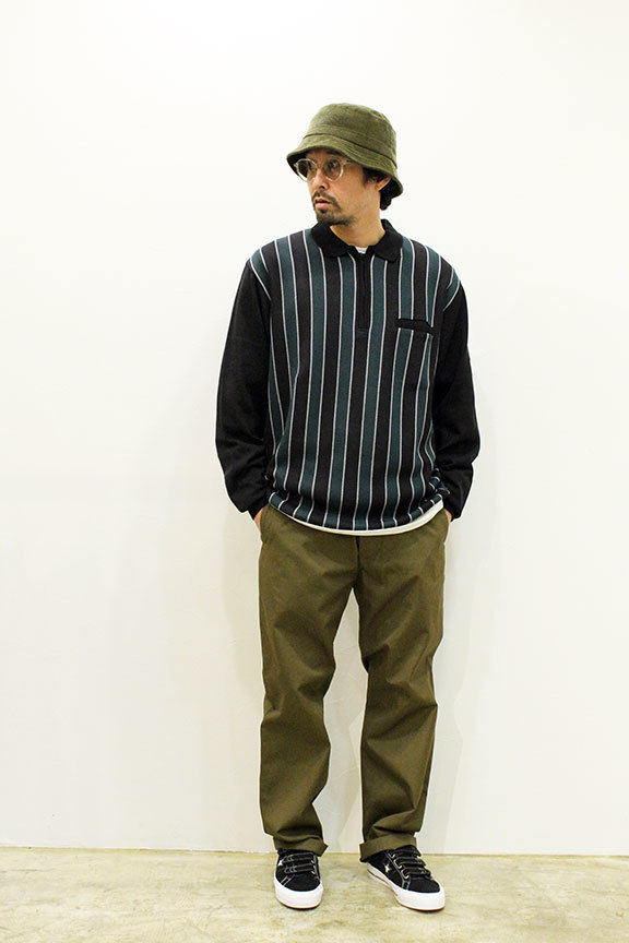 "WHIMSY (ウィムジー) "" STRIPED KNIT POLO \""_b0122806_12301350.jpg"