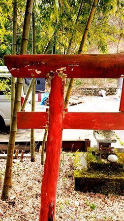 お稲荷さんの鳥居_a0128408_15373654.jpg