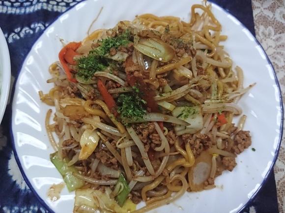 3/31 シマダヤ 鉄板麺縁日ソース味、アジアンサラダ、からだを想うオールフリー @自宅_b0042308_01032963.jpg
