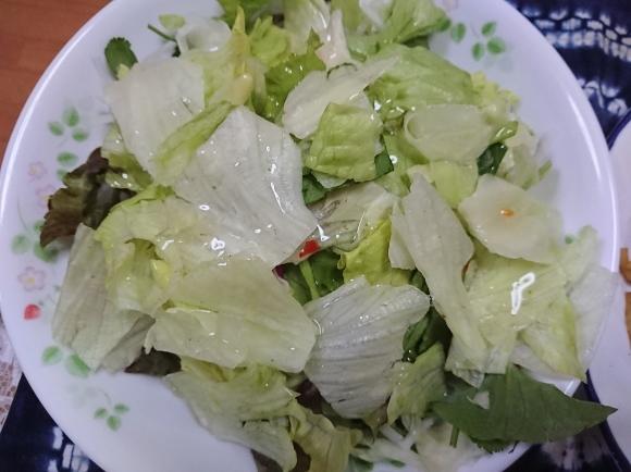 3/31 シマダヤ 鉄板麺縁日ソース味、アジアンサラダ、からだを想うオールフリー @自宅_b0042308_01041330.jpg