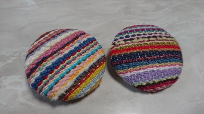 織りのブローチ完成です♪_f0374160_22090339.jpg