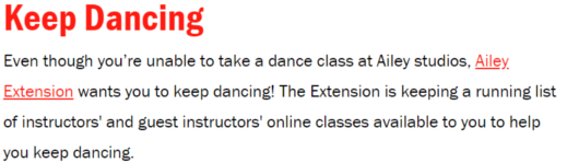 NYの老舗ダンス・カンパニーも、公演やダンス・クラスを期間限定で無料配信!_b0007805_09185280.jpg