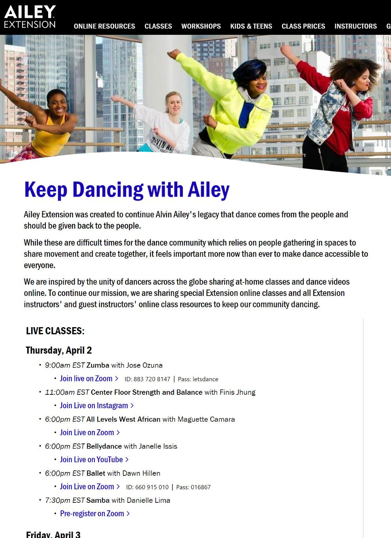NYの老舗ダンス・カンパニーも、公演やダンス・クラスを期間限定で無料配信!_b0007805_09400043.jpg