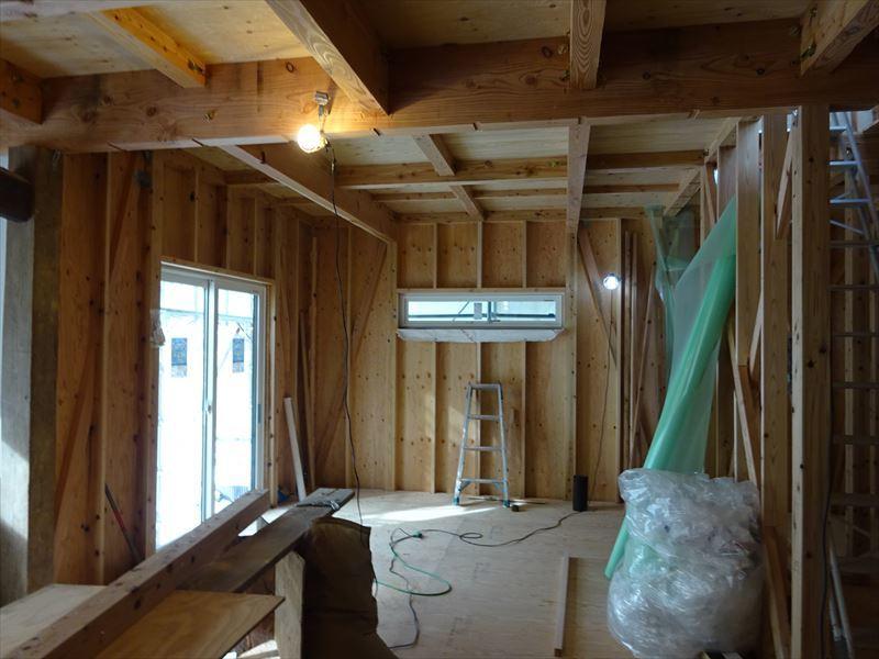 下太田 古材新築の家 大工工事進行中です。_f0105112_04523610.jpg