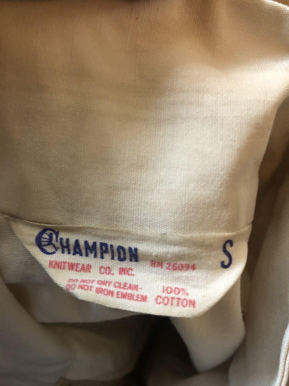 4月4日(土)入荷!60s champion チャンピオン ランナーズタグ コットン ジャケット!_c0144020_12510656.jpg