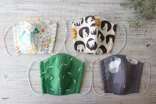 子ども用立体マスクにデコレクションズさんの『竹布抗菌防臭ニット』で試作♪_f0023333_22004098.jpg
